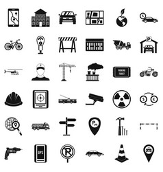 Car gps icons set simple style vector