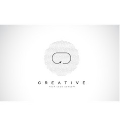 Cd c d logo design with black and white creative vector