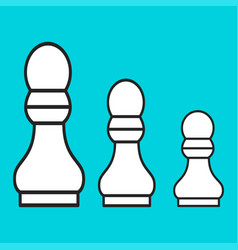 Chess figure a pawn on a blue background vector