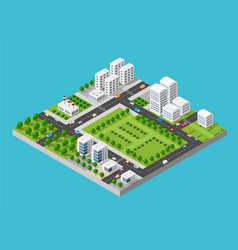 city isometric set vector image