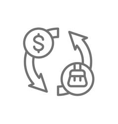 Cleaning service fee car wash line icon vector