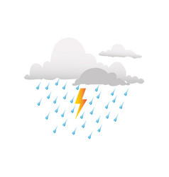 Colorful silhouette rain storm weather icon vector