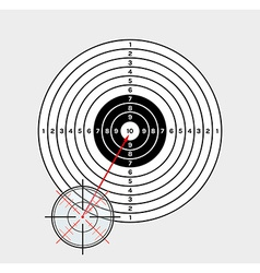 Crosshair and target vector