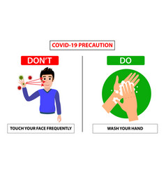 Do and dont poster for covid 19 corona virus vector