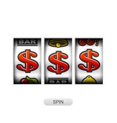Dollars jackpot on slot machine vector