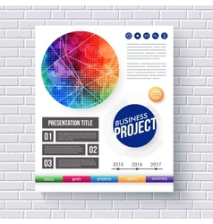 Eye-catching design for a Business Project vector