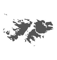 falkland islands map black icon on white vector image