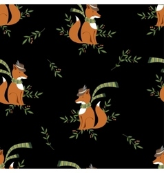 Funny foxy with scarf pattern vector image