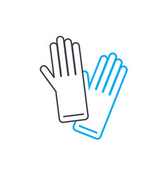 garden gloves linear icon concept garden gloves vector image