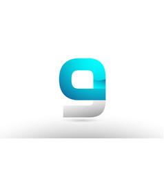 Grey blue alphabet letter g logo 3d design vector