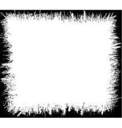 Grunge scribbles frame vector image