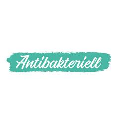 hand sketched antibacterial in german quote vector image