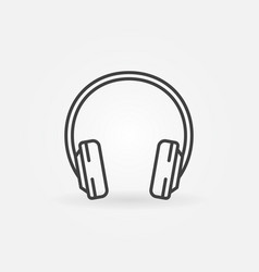 headphone outline icon headphones concept vector image