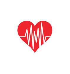 heart pulse icon graphic design template vector image
