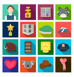 History tourism travel and other web icon in vector