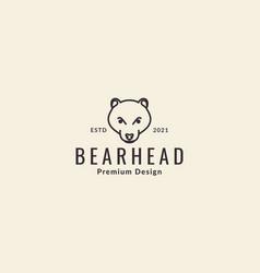 Honey bear head lines logo symbol icon graphic vector