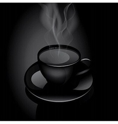 Hot drink cup vector image