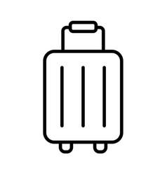 icon baggage luggage icon vector image