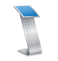 Interactive Information Kiosk Terminal Stand vector image