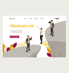 Isometric fear and overcoming risks in business vector