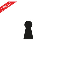 keyhole icon in trendy flat style isolated on grey vector image