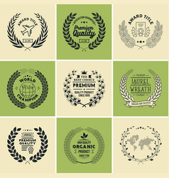 laurel wreath templates vector image