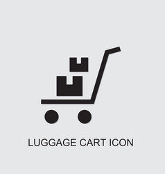 Luggage cart icon vector