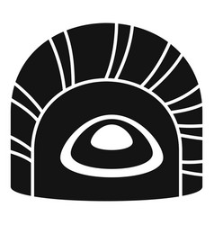 Maguro tai sushi icon simple style vector