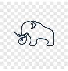 mammoth concept linear icon isolated on vector image