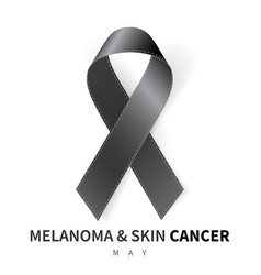 melanoma and skin cancer awareness month vector image