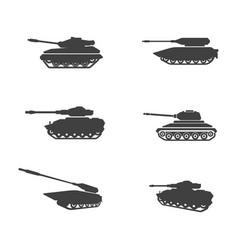 Military tank icon design vector