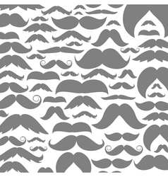 Moustaches a background vector