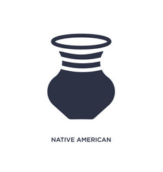 Native american pot icon on white background vector