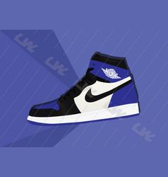 Nike air jordan 1 og royal white vector