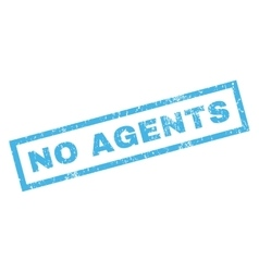 No Agents Rubber Stamp vector