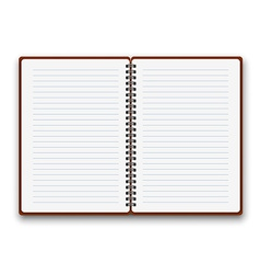 Open notebook vector image vector image