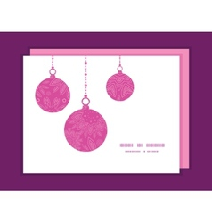 Pink abstract flowers texture Christmas ornaments vector