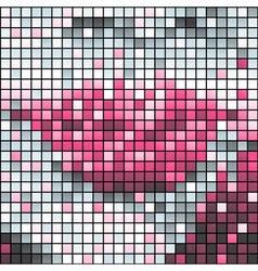 Pink lips vector