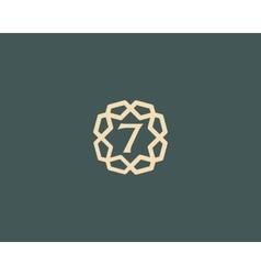 Premium number 7 logo icon design luxury vector