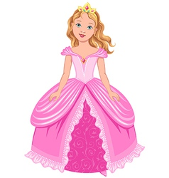 Princess girl vector