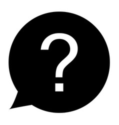 question icon on white background sign vector image