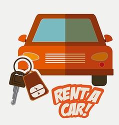 Rent a car design vector image