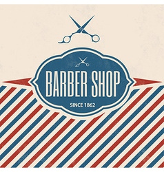 Retro Barber Shop Vintage Template vector