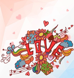 Romantic with a set of Valentines Day vector image