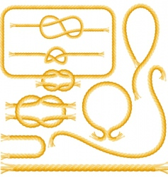 Rope frames and knots vector