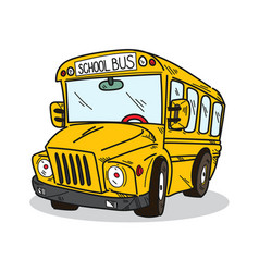 school bus on a white background vector image
