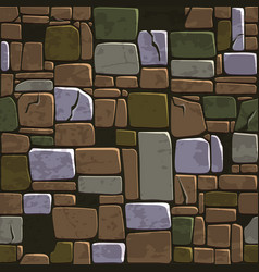 Seamless background texture old color stone wall vector