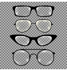 set custom glasses isolated vector image
