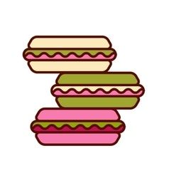 Set different taste macaroons vector