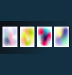set modern template abstract blurred gradient vector image